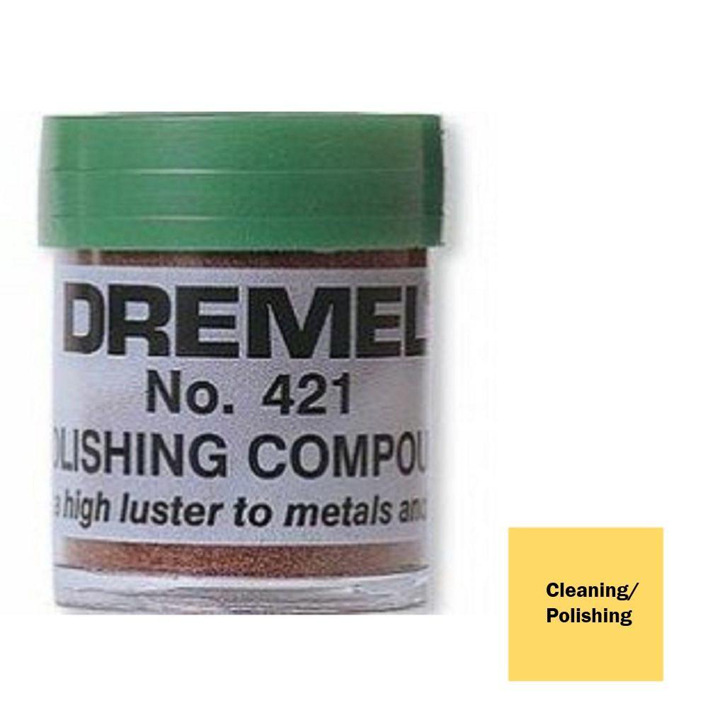 Dremel Rotary Tool Silver Metallic Polishing Compound For Polishing Metal And Plastic 421 The Home Depot Dremel Polishing Compound Dremel Attachments