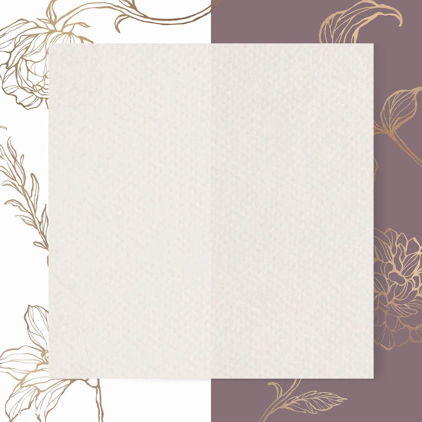 Download Premium Vector Of Rectangle Paper On Floral Outline Background In 2020 Floral Border Design Instagram Frame Template Flower Background Wallpaper