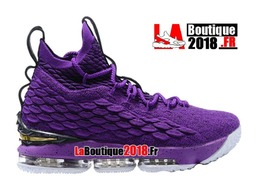 10731206cf8d0 Nike LeBron 15 XV Violet Noir Chaussures Nike Basket Prix Pour Homme - Voir