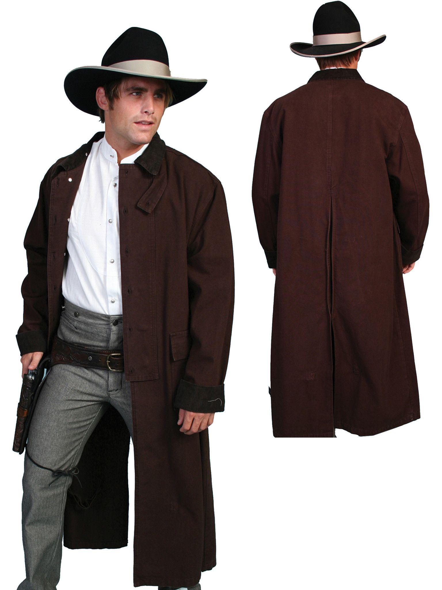 Scully Rangewear Mens Walnut 100 Cotton Long Overcoat Duster Coat Mens Western Wear Long Overcoat Men S Coats And Jackets [ 2048 x 1536 Pixel ]