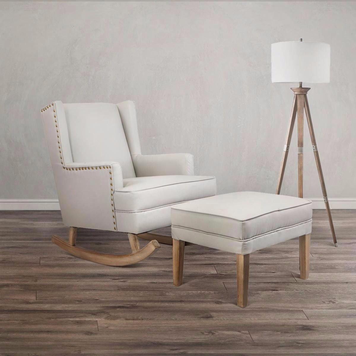 Admirable Baby Nursery Leather Rocker Rocking Chair Glider Ottoman Short Links Chair Design For Home Short Linksinfo