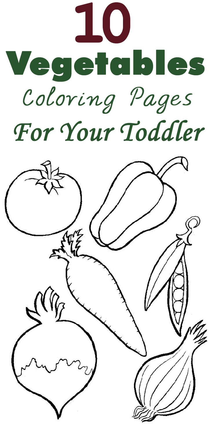 Spring coloring sheets for toddlers - 10 Vegetables Coloring Pages For Your Toddler