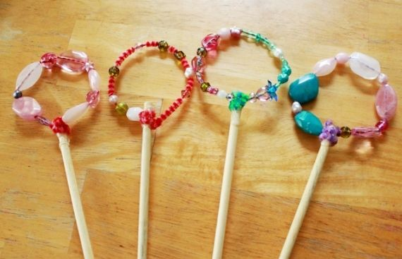 Diy Bubble Wands With Beads Bubble Wands Homemade Bubbles