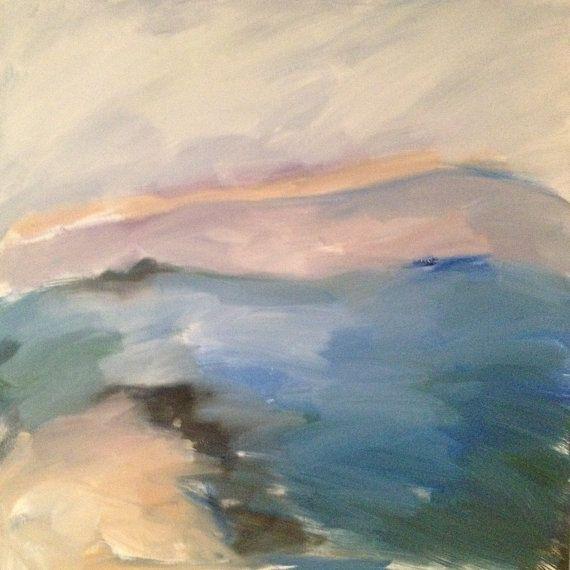 Large landscape painting original art oil on by SiobhanLeonard