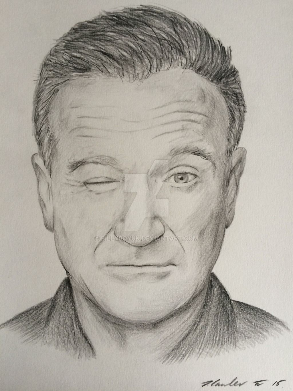 Robin williams pencil drawing by billyboyuk deviantart com on deviantart