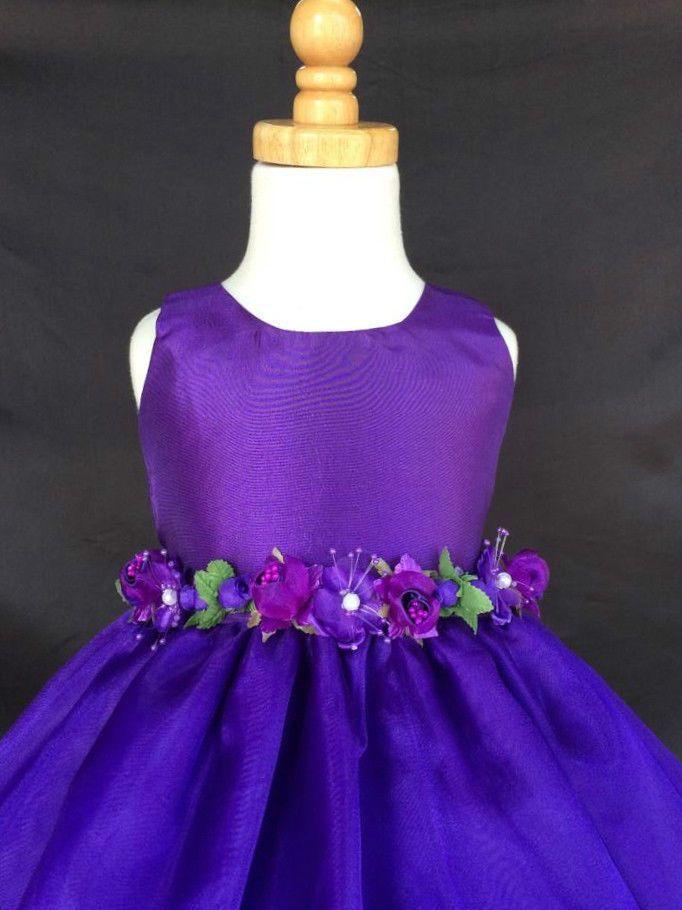 Flower Girl Wedding Bridesmaids Elegant Formal 803 Crystal Organza ...
