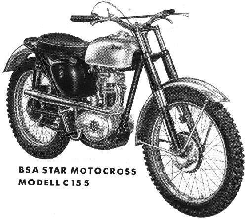 Bsa C15 S Motocross Bikes Cool Bike Accessories Enduro Motorcycle