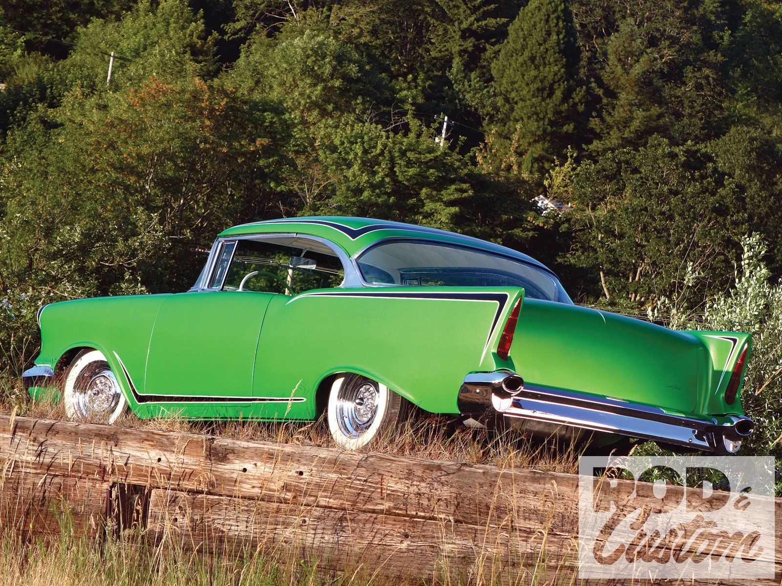 1957 Chevy Neon Green