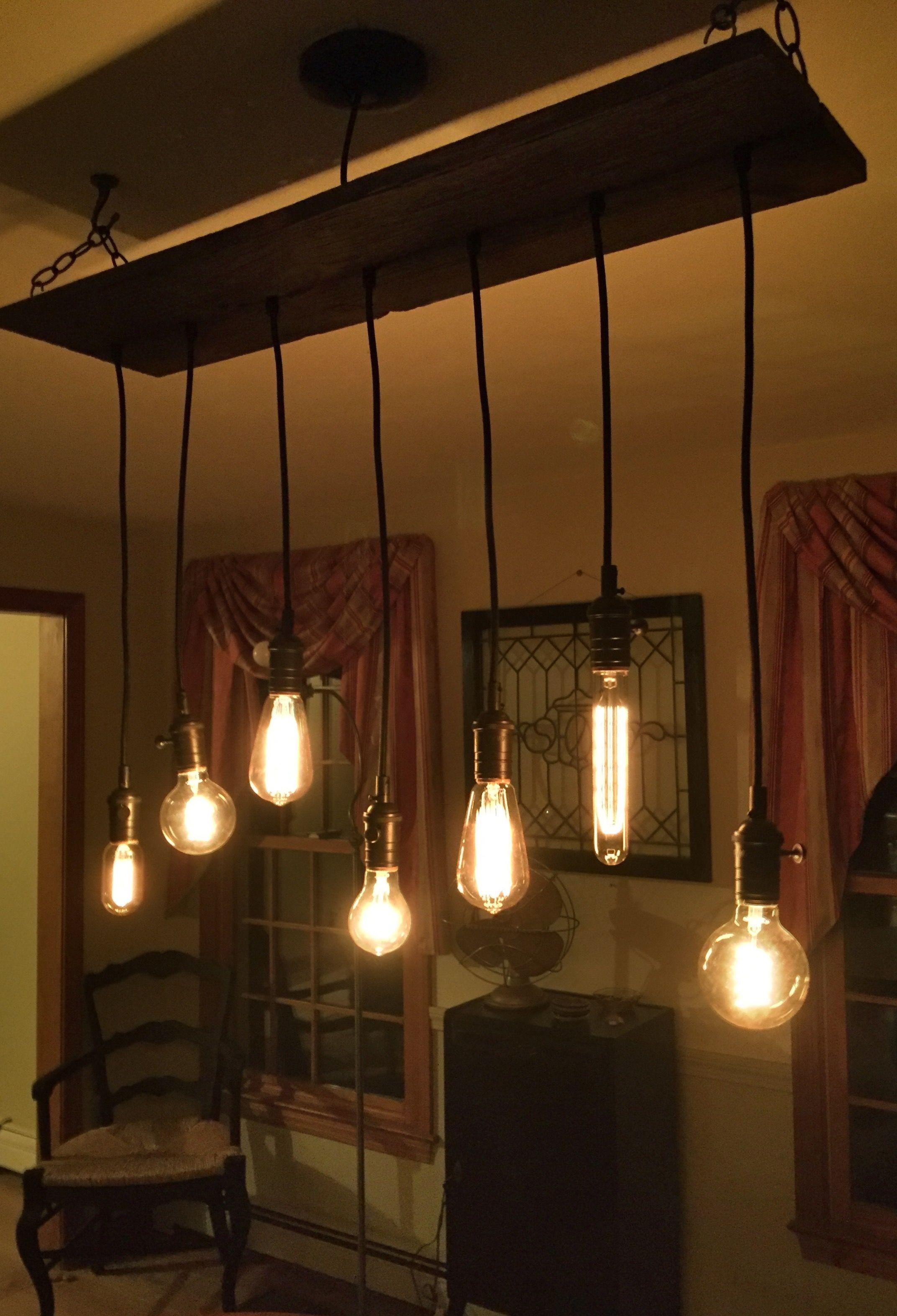 New Etsy dining room light!!