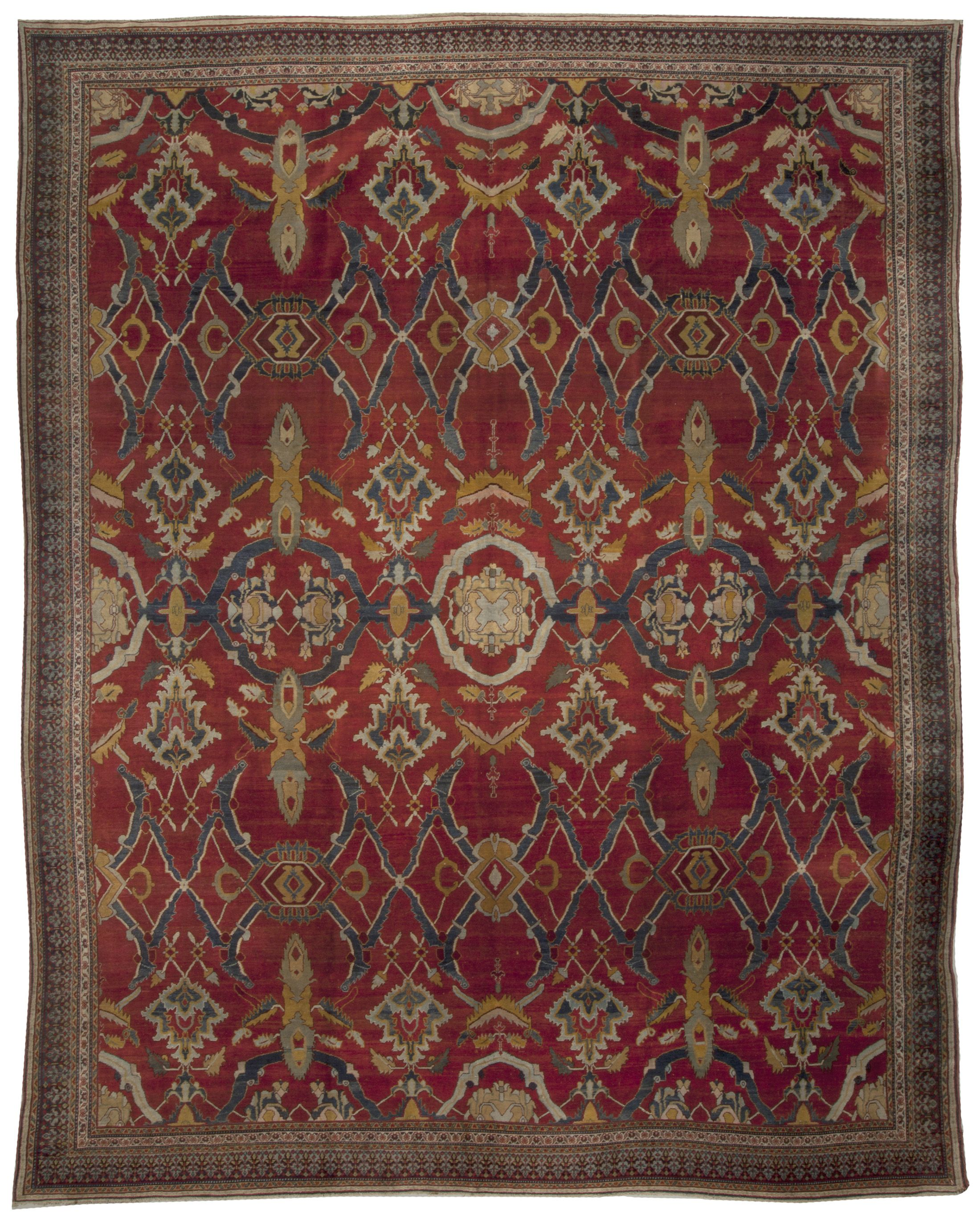 Indian Agra Red Yellow Blue And White Hand Knotted Wool Rug Bb5109 By Dlb Indian Carpet Antique Indian Rug Carpet Sale
