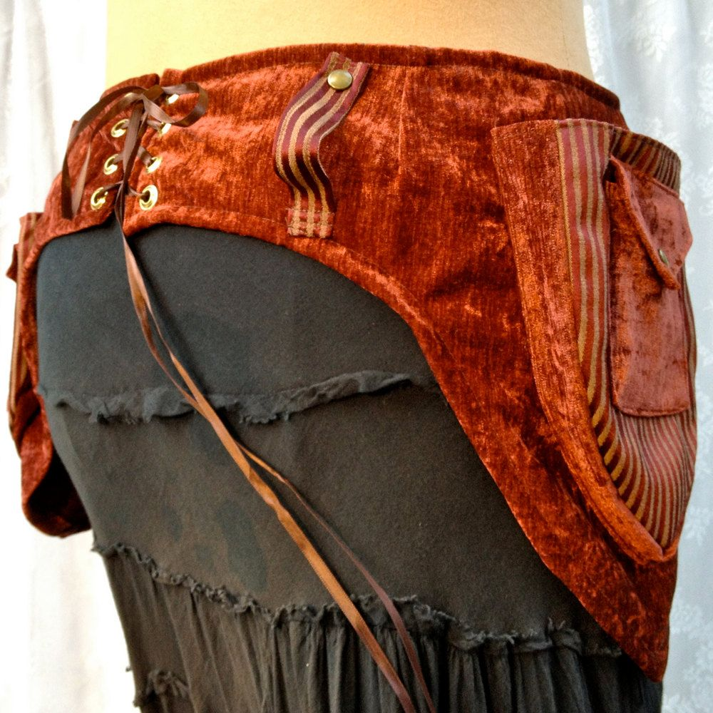 WANT.  Hip-loving utility belt - plus size festival belt - rust brown stripes - size Extra Large. $95.00, via Etsy.