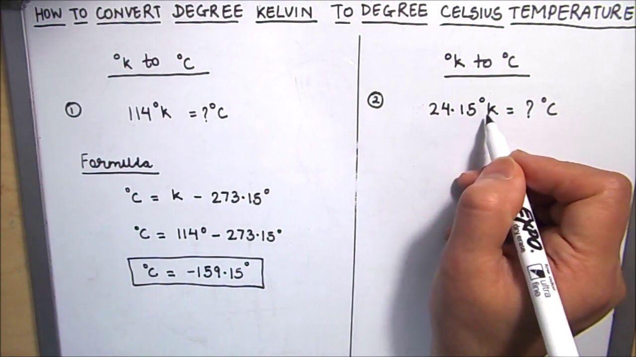 How To Convert Kelvin Temperature To Celsius Centigrade Temperature K To C Temperature Conversion Youtube Kelvin Converter Math Videos [ 720 x 1280 Pixel ]