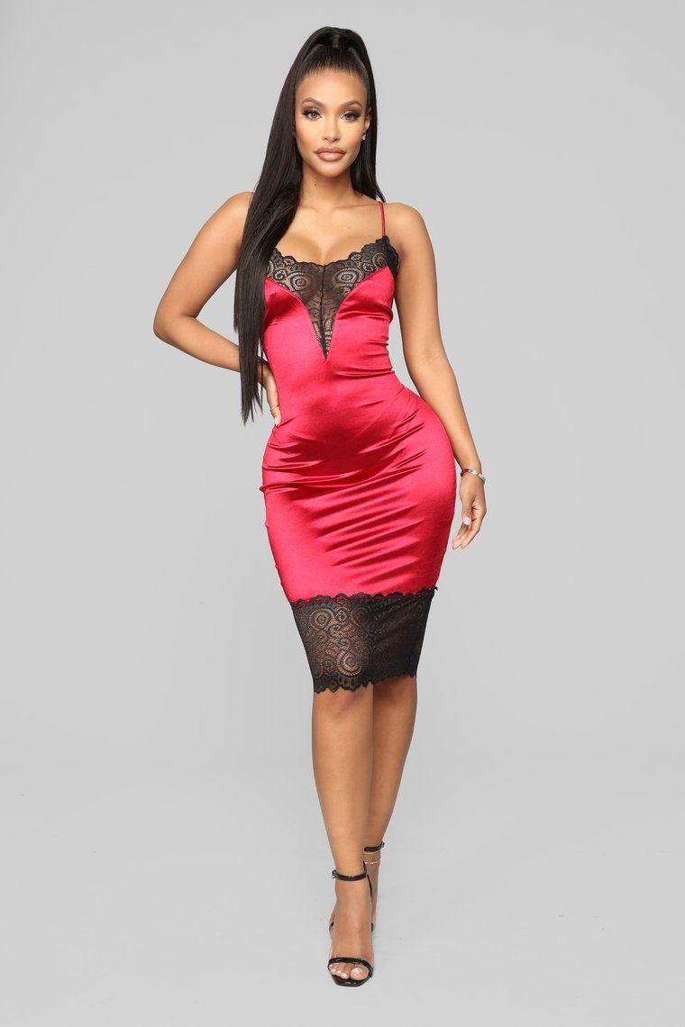 9b29b9ac193 Loving My Curves Slip Dress - Red in 2019