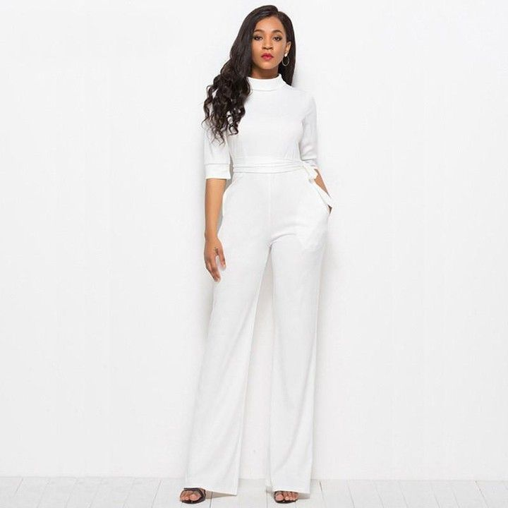 0a3c0467e980  aleyacollections posted to Instagram  Women Elegant Long Sleeves Tracksuit  Jumpsuit White