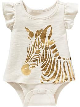 2 In 1 Zebra Graphic Bodysuits For Baby 12 94 Available In Sizes
