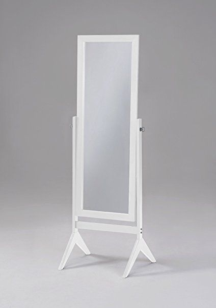 White Finish Wooden Cheval Bedroom Free Standing Floor Mirror Cheval White By Ehomeproducts 50 Wooden Bedroom Floor Mirror Standing Mirror