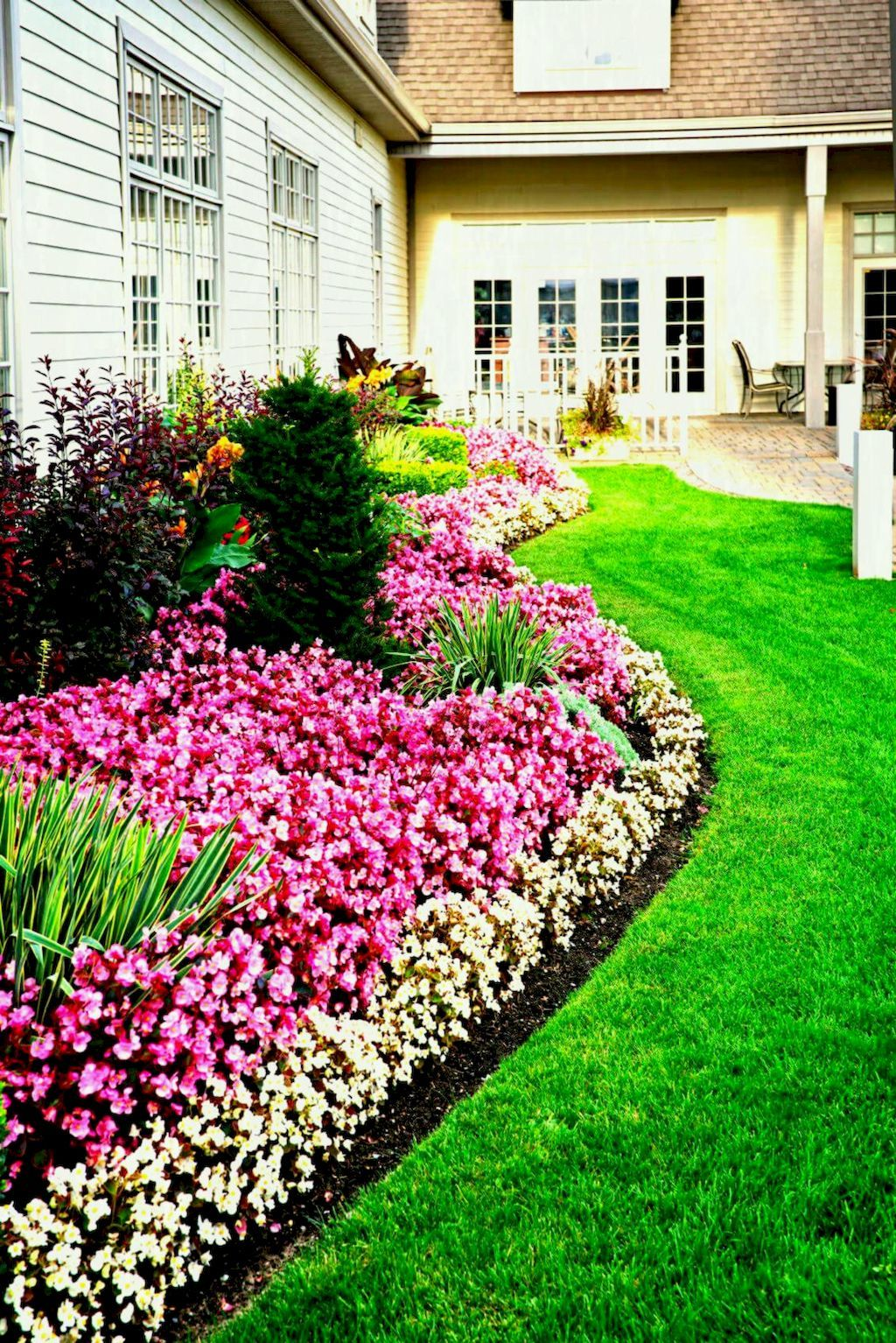 58 spectacular flower garden ideas for homey spring on beautiful front yard rock n flowers garden landscaping ideas how to create it id=75231