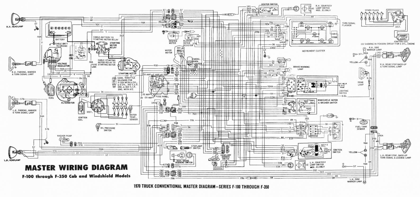 16 22r Alternator Wiring Diagram Diagram Repair Manuals Ford