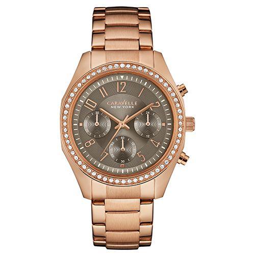 Ladies Caravelle New York Chronograph Watch-44L195