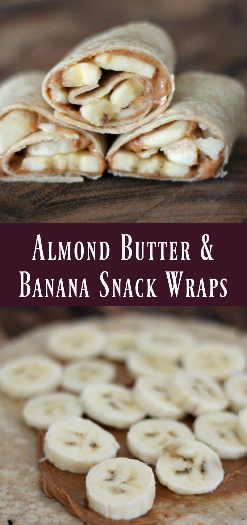 Almond Butter & Banana Snack Wraps - Organize Yourself Skinny #wrapshapjes