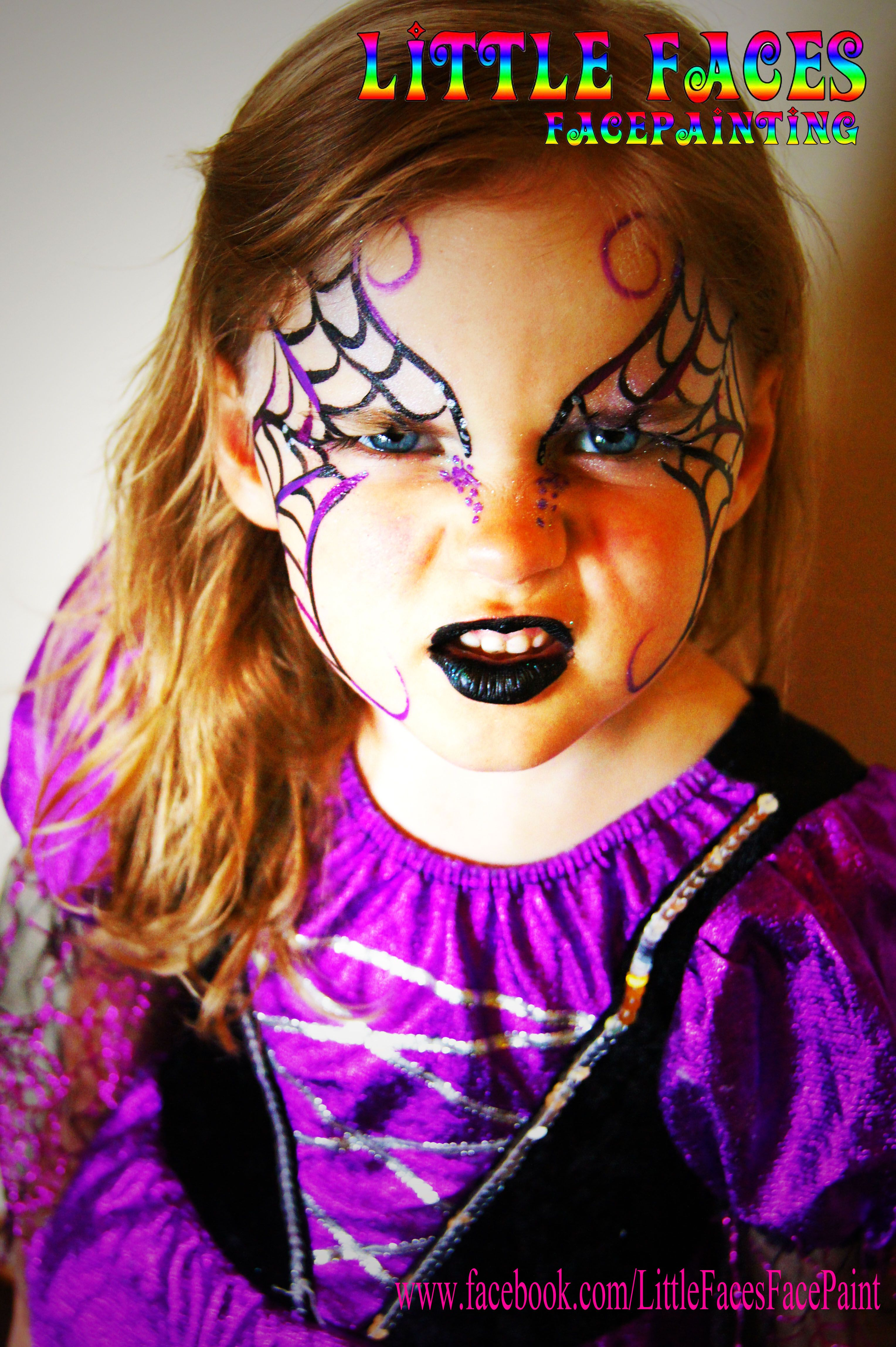 Spider mask face paint for Halloween - Spider mask face paint ...