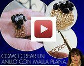 Ebook y Video Como Crear un Anillo con Malla Plana - Tutorial Joyeria Crochet