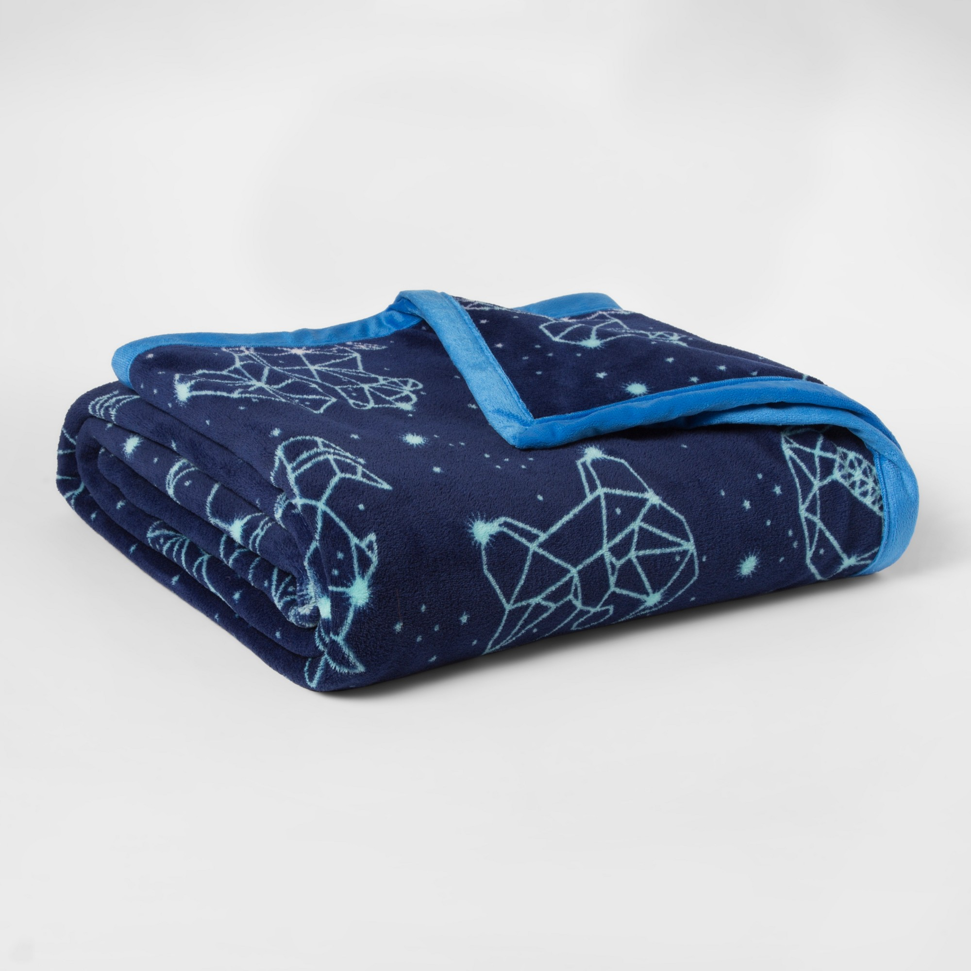Constellations Plush Blanket (Twin) Pillowfort, Blue