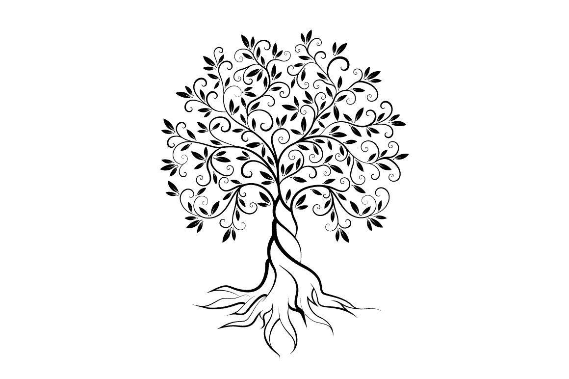 Olive Tree Vector Logo Concept By Provector On Creativemarket Tree Logo Design Olive Tree Tattoos Tree Tattoo