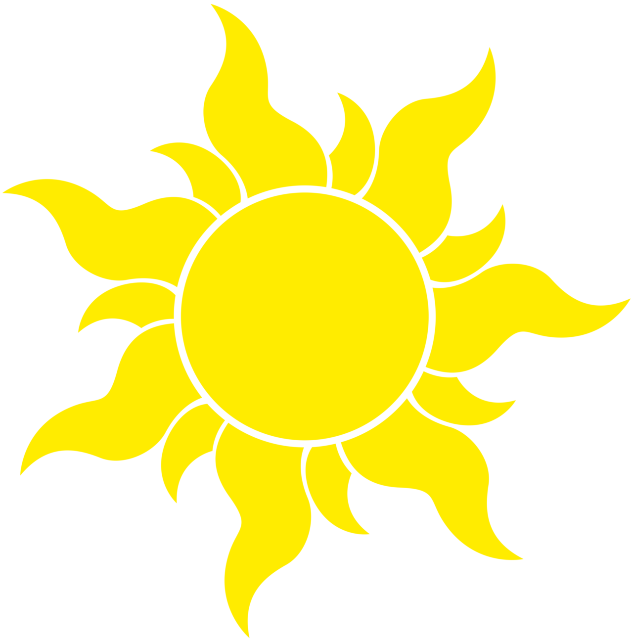 Tangled Sun Symbol -HUGE- by ~SyntaxError255