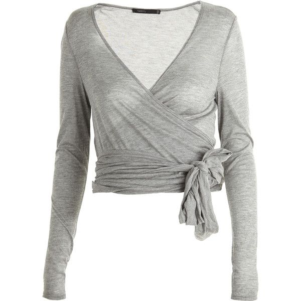 Twenty ballerina wrap cardi 159 liked on polyvore for Wrap style t shirts