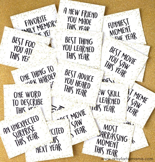 Free Printable New Year's Eve Reflection Questions