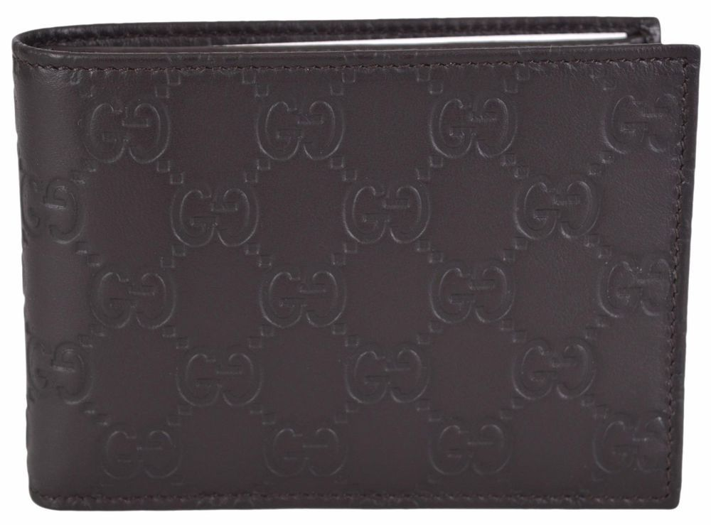 84445549ef27 NEW Gucci Men's 292534 Brown GG Guccissima Leather W/Coin Large Bifold  Wallet #Gucci #Bifold