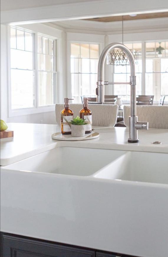 Amber Glass Bottle Soap Dispenser Lotion Dispenser Metal Pump Dish Soap Dispenser Signature Kitchen Sink Decor Kitchen Renovation Design Kitchen Counter Decor
