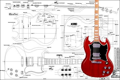 896e6f52fa760426fffd125970f7e512 gibson sg� electric guitar plan guitar pinterest gibson sg gibson sg standard wiring diagram at gsmportal.co