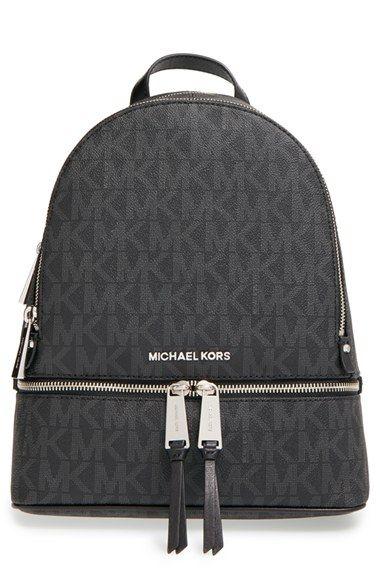 b722e07b047 Free shipping and returns on MICHAEL Michael Kors  Medium Rhea Zip  Leather  Backpack at