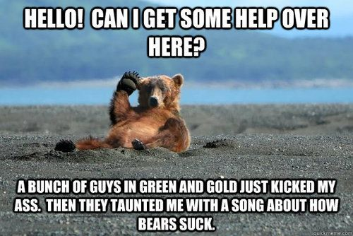 Well it's true...sing it with me now.... The bears still suck....   Lol