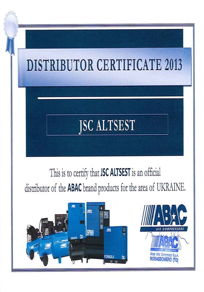 Компания АО Альцест - официальный представитель продукции ABAC в Украине - http://e-altsest.com/ru/news/itm/362/