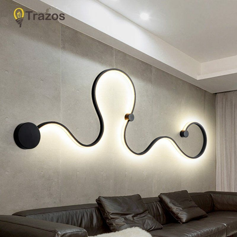 Acrylic Modern Led Lamp Chandelier Light For Living Room Bedroom Indoor Ceiling Wall Lamp Led Wall Lights Stripped Wall
