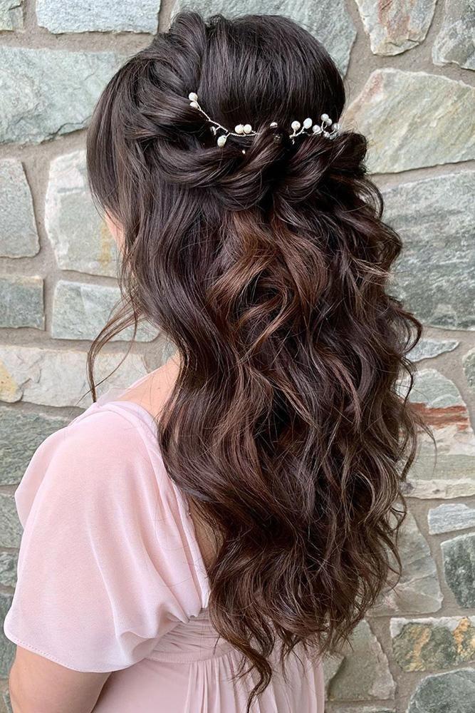 45 Half Up Half Down Wedding Hairstyles Ideas #softcurls