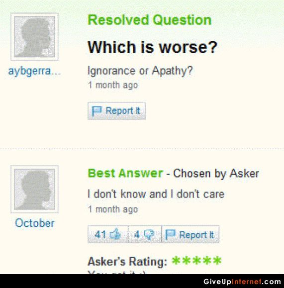 Hahahahahahaha Good Answer Funny Yahoo Questions This Or That Questions Pinterest Humor