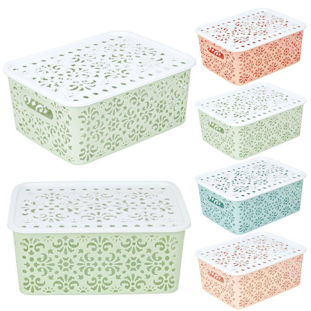 Plastic Storage Basket Box Bin Clothes Organizer Container Home Laundry Holder