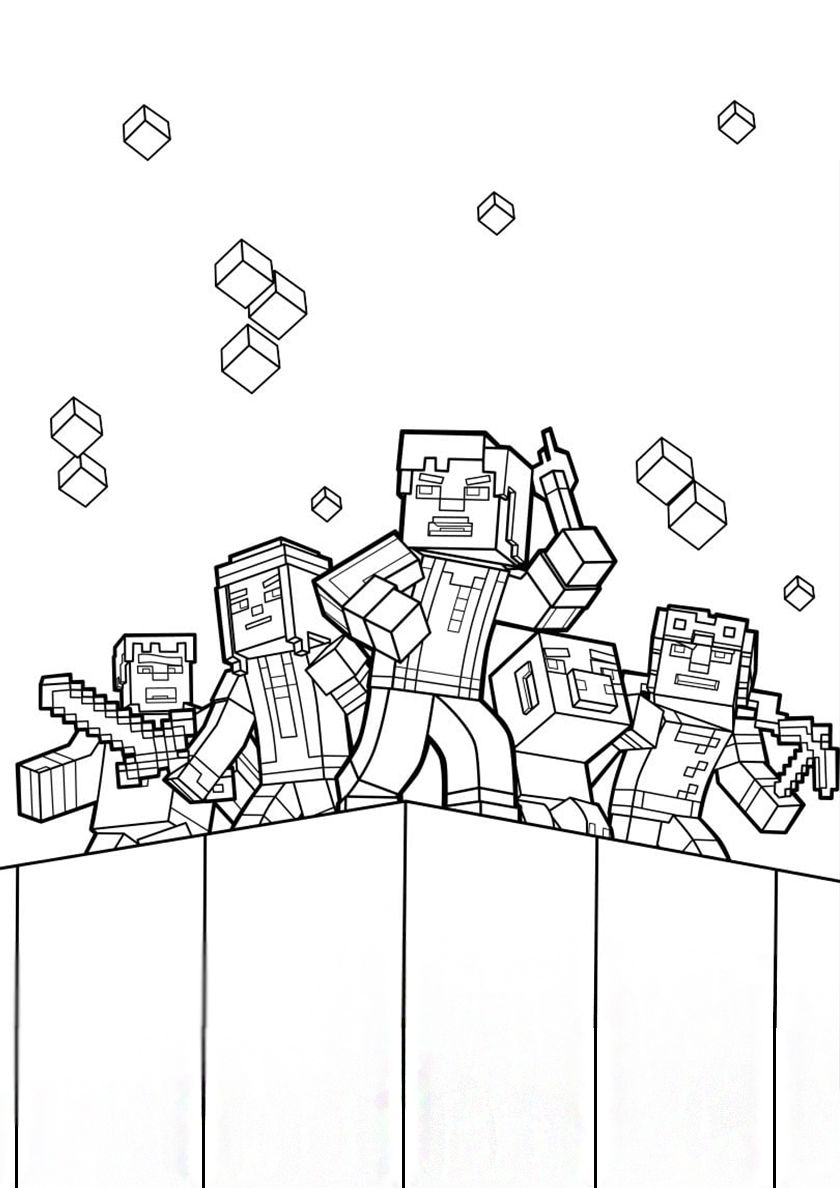 Minecraft Coloring Pages Minecraft Printables Minecraft Coloring Pages Birthday Coloring Pages