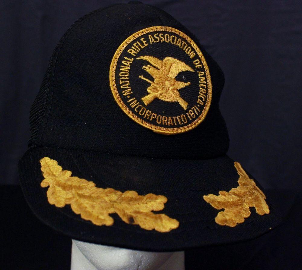 2d7ce958 NRA National Rifle Association Snapback Mesh Trucker Hat Baseball ...