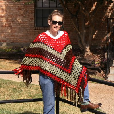 Girls And Grannies A Free Crochet Poncho Pattern Crochet