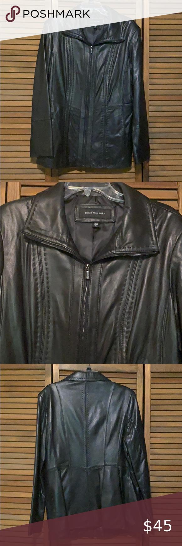 Women S Black Leather Jacket Euc Size Xl Leather Jacket Black Leather Jacket Womens Black Leather Jacket [ 1740 x 580 Pixel ]