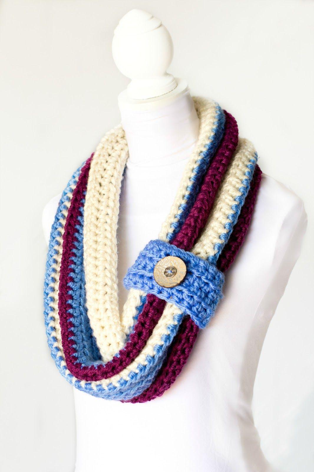Hermosa Crochet Patrón De Bufanda De Invierno Elaboración - Ideas de ...