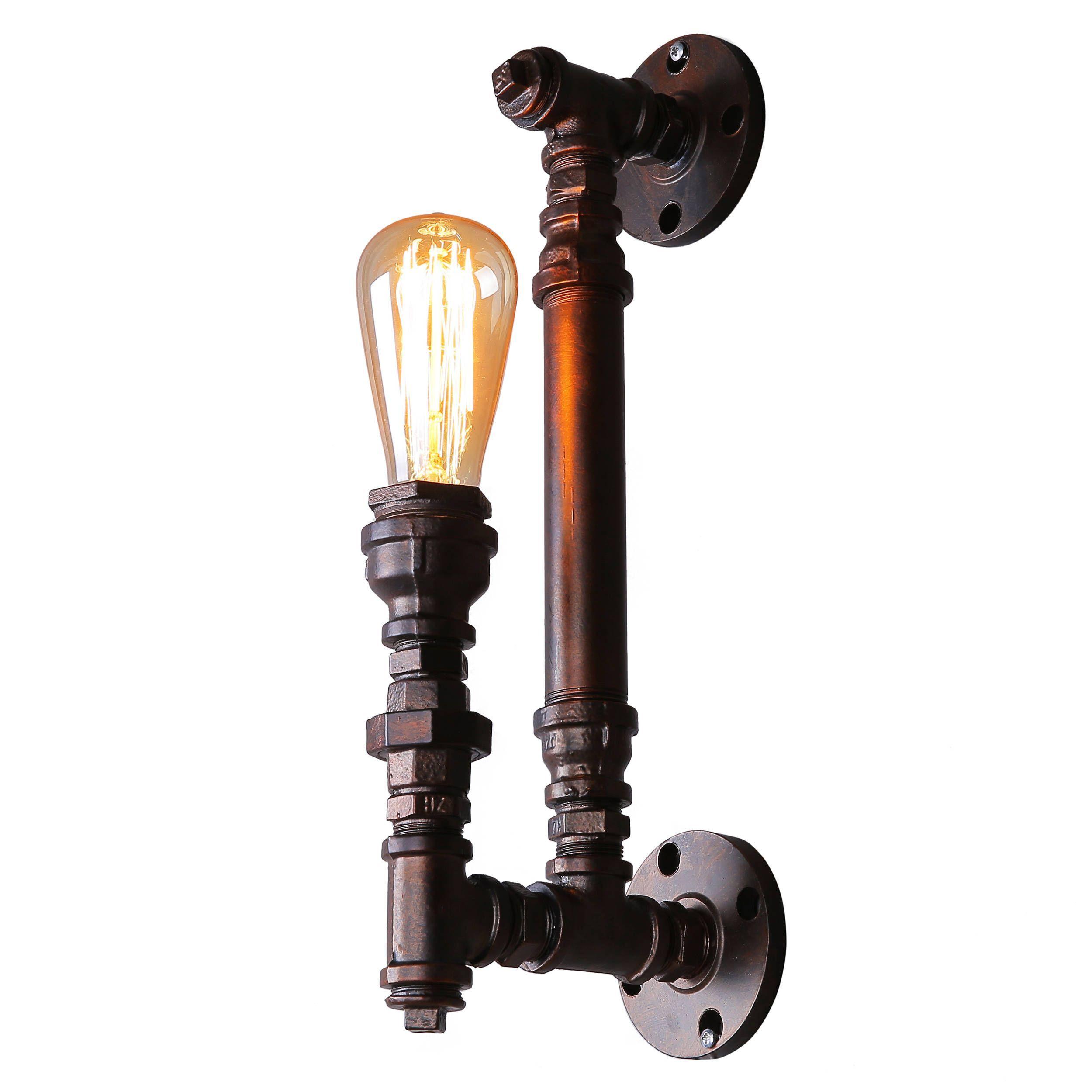 journee lighting. Journee Home \u0027Fitzgerald\u0027 Iron 14-in Edison Bulb Included Hard Wired Wall Sconce (Grey) Lighting U