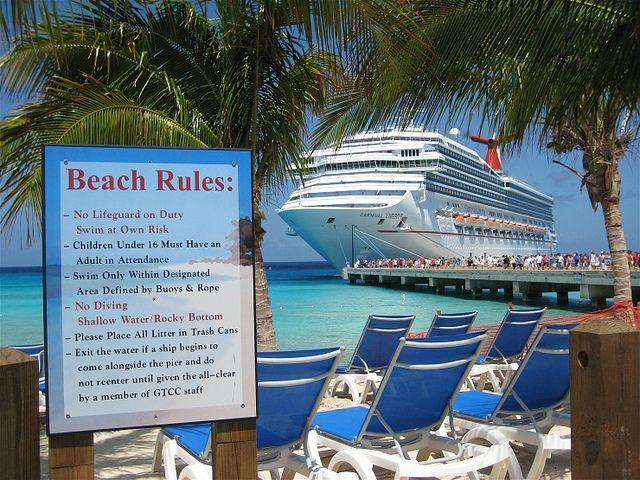 Beach Rules!  2009 Carnival Cruise Grand Turk by Brian P. Bay City, MI,