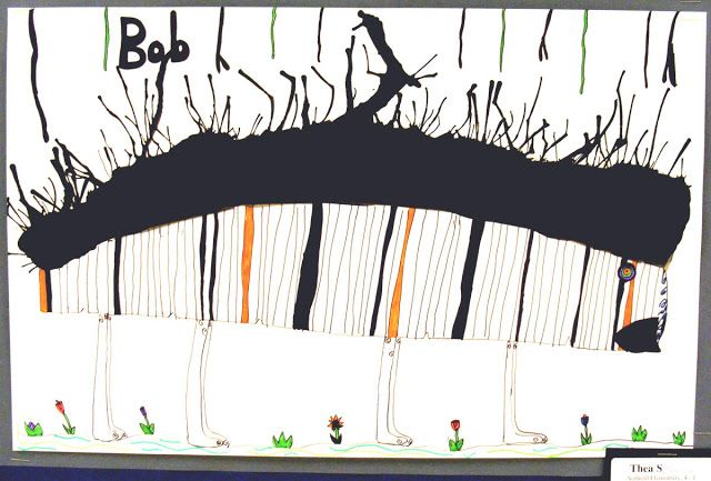 Field Elementary Art Blog!: Ink Blot Illustrations Inspired by Stefan Bucher