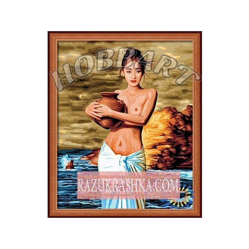Купить Раскраска по номерам Hobbart «Девушка с кувшином ...